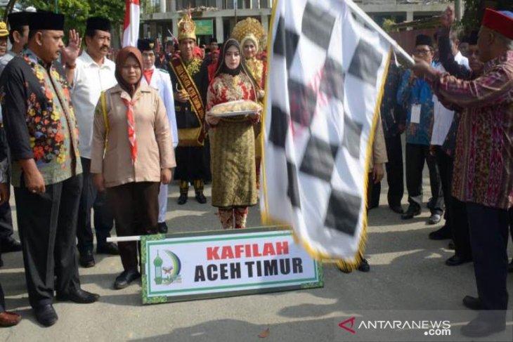 Pelepasan pawai ta'aruf diawali Kafilah Aceh Timur