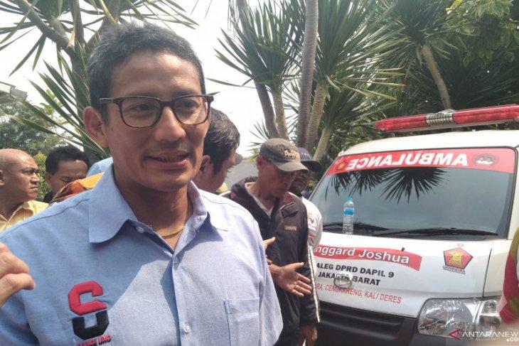 Sandiaga: masih nyaman ngobrol politik dengan Prabowo