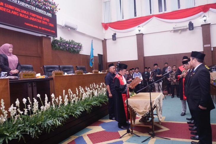 Tadi malam, Ketua PN lantik pimpinan DPRD Pandeglang