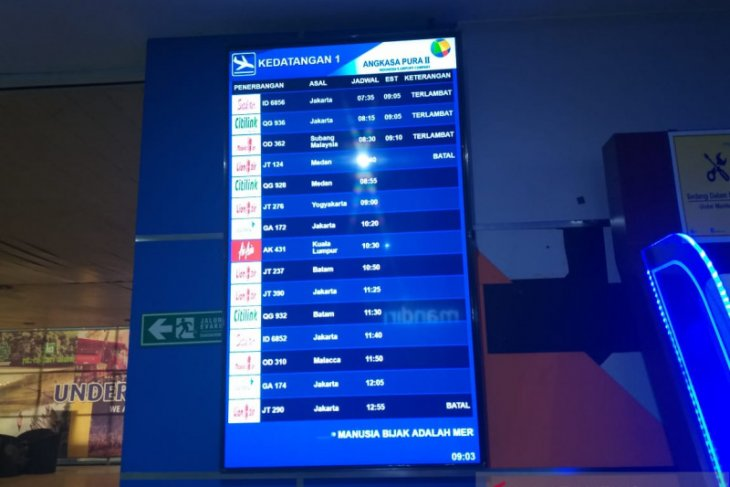 Haze forces cancellation of 33 flights at Pekanbaru