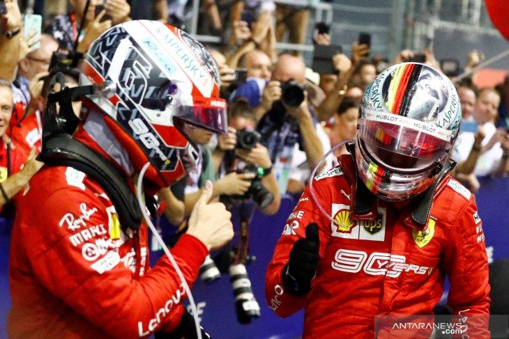 Hasil GP Singapura, Duo Ferrari  perkasa