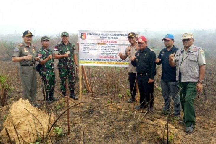 Polisi segel lahan PTPN XIII di Sanggau