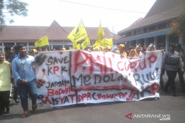 Aksi mahasiswa Curup berlangsung tertib
