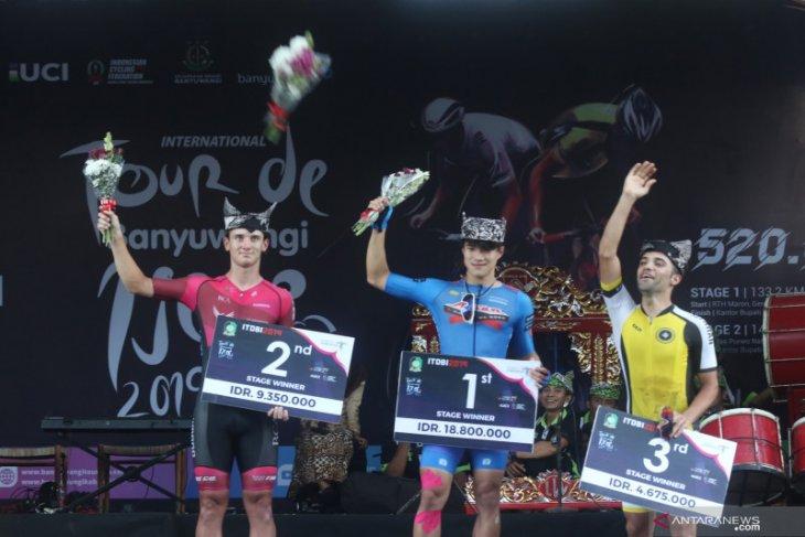 Tour de Banyuwangi Ijen, juara etape ketiga Kakeru Omae ternyata calon dokter