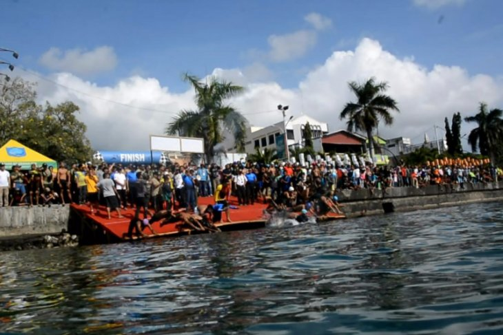 Ternate Open Tournament Triathlon 2019 ajang jaring atlet potensial Malut