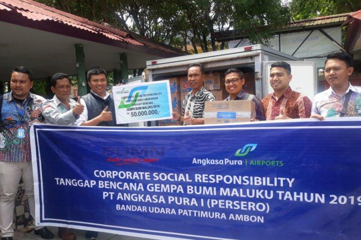 Angkasa Pura Bandara Pattimura salurkan bantuan tanggap bencana gempa