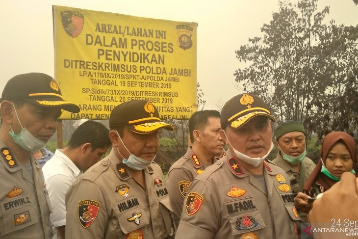 Jambi police investigates 12 companies related to forest fires