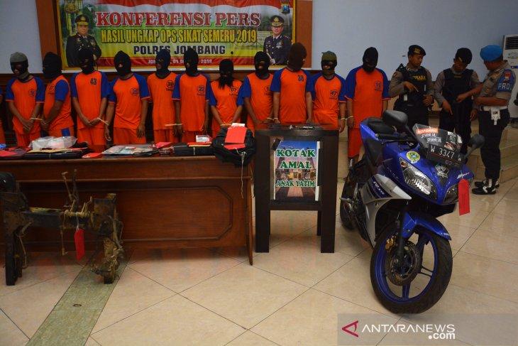 Hasil operasi sikat Semeru 2019 di Jombang
