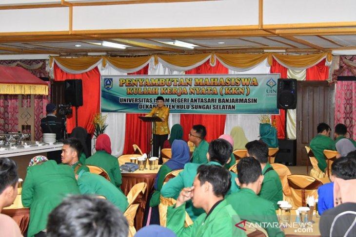 Bupati HSS sambut kedatangan mahasiswa KKN UIN Antasari Banjarmasin