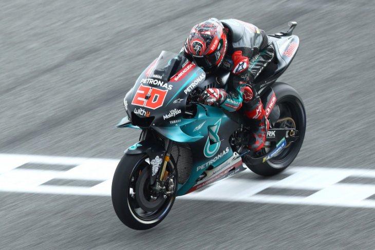 Quartararo pole position GP Thailand, Marquez dan Rossi  terjatuh