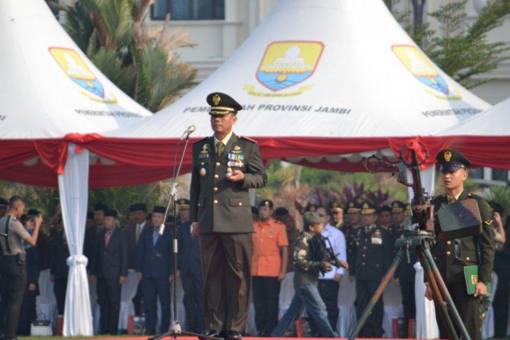Ada pembebasan sandera pada HUT TNI di Jambi