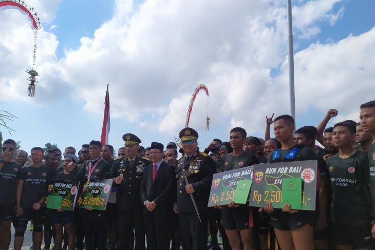HUT TNI, Pangdam Udayana sambut Serka Astawa yang berlari 374 km keliling Bali