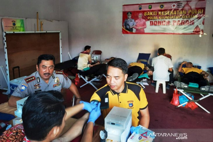 Biddokkes Polda  gandeng PMI gelar donor darah