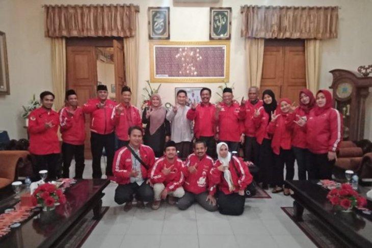 Pengurus DPC PDI Perjuangan sowan pada Bupati Irna