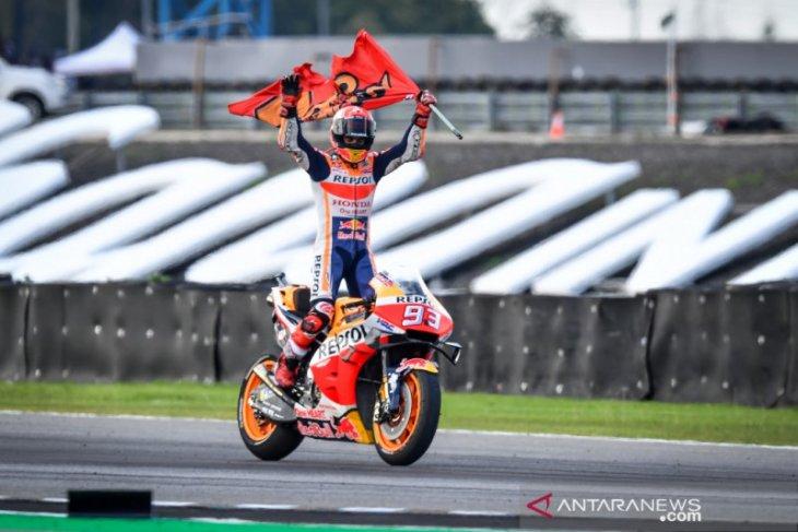Marc Marquez juara dunia setelah menangi GP Thailand