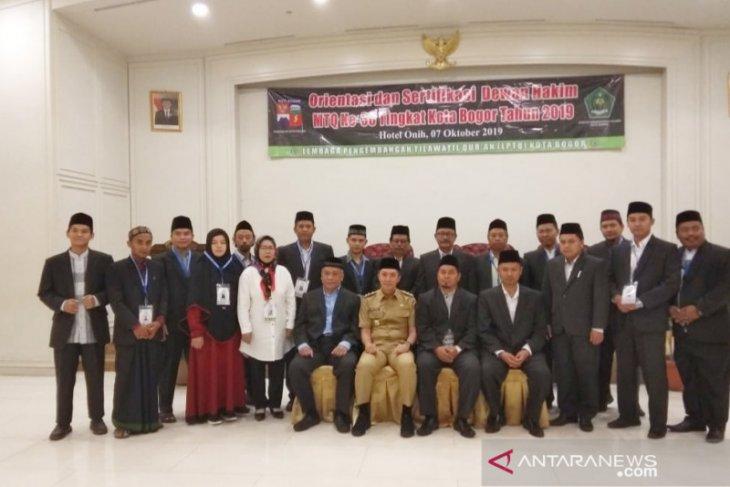 97 Hakim penilai MTQ ke-38 Kota Bogor disertifikasi