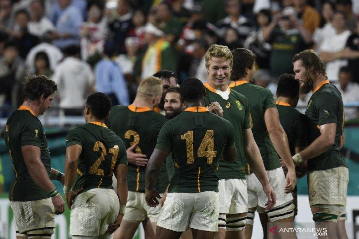 Piala Dunia Rugby - Afsel amankan tiket perempat final setelah hancurkan Kanada