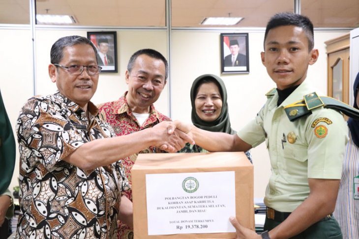 BEM Polbangtan Bogor serahkan donasi untuk korban Karhutla