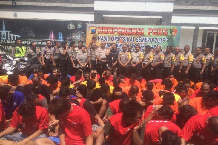 Polrestabes Surabaya ungkap 409 kasus kejahatan