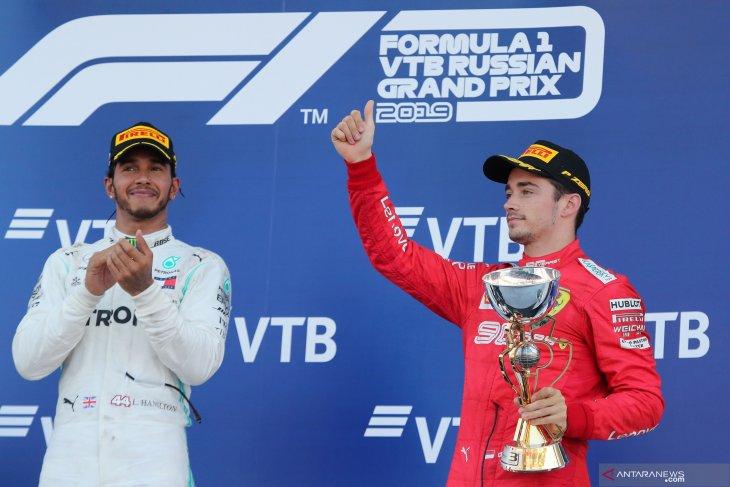 Formula 1 - Hamilton pandang Leclerc pebalap nomor satu Ferrari