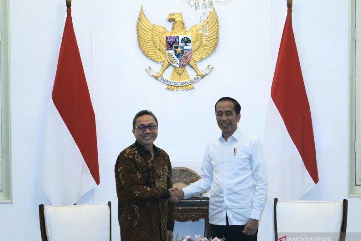 Zulkifli Hasan bertemu Presiden