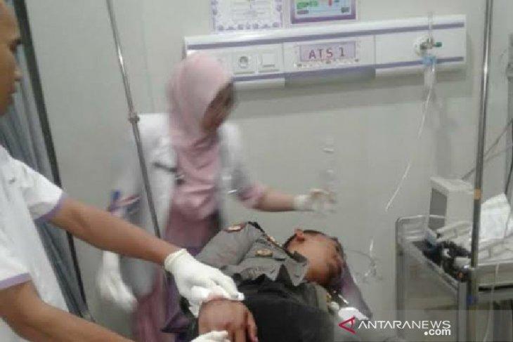 Anggota polisi di Medan alami luka serius  akibat dibacok pelaku kriminal