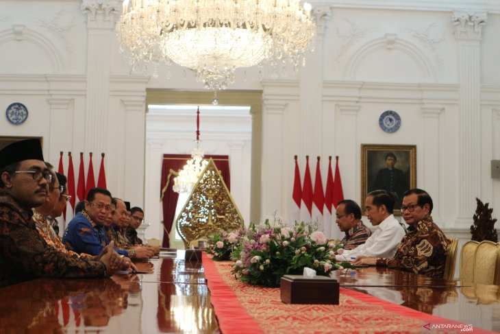 MPR leaders, Jokowi hold discussion on preparations for inauguration