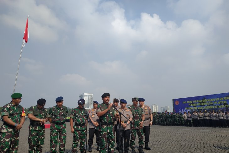 Thirty thousand personnel deployed prior to presidential inauguration