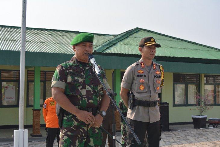 Kesiapan pengamanan, TNI-Polri Waykanan gelar apel bersama jelang pelantikan presiden
