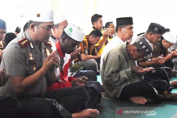 Polres Aceh Timur gelar do'a bersama jelang pelantikan presiden dan wapres