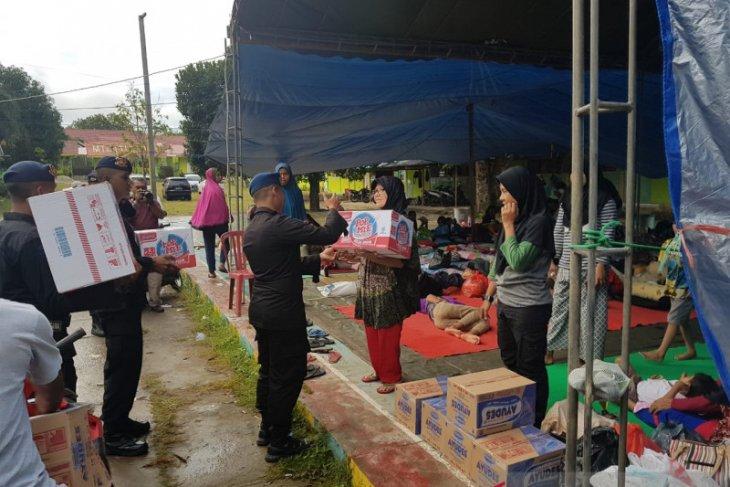 Polri intensif salurkan bantuan korban pengungsi pascagempa Maluku