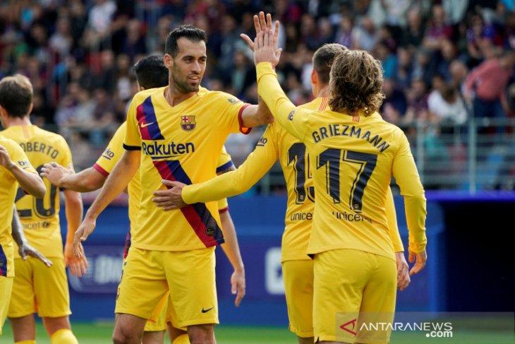 Liga Spanyol - Barcelona ambil alih puncak usai pecundangi Eibar
