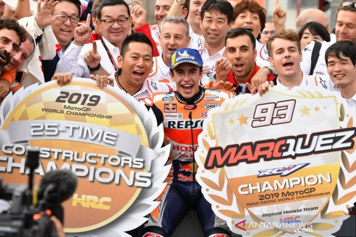 Marc Marquez dinobatkan sebagai juara dunia