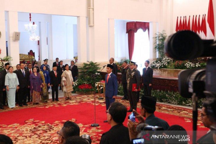 Presiden lantik menteri dan pejabat setingkat pada Kabinet Indonesia Maju