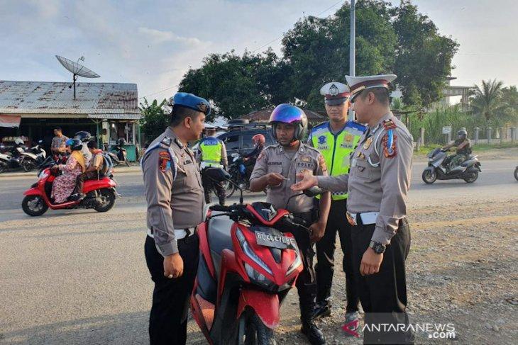 Polisi tilang polisi di Bireuen hari pertama operasi zebra