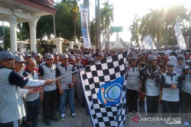 6.000 warga Kota Pangkalpinang ikuti Jalan Sehat SAIK 2019
