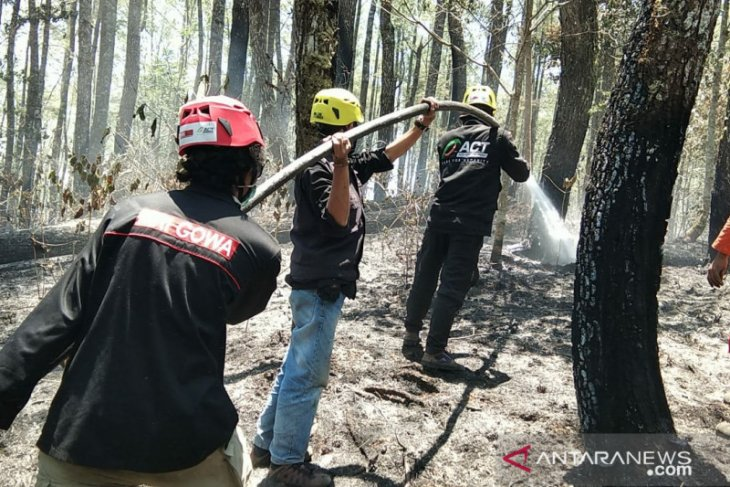 ACT Ikut bantu padamkan kebakaran hutan lahan