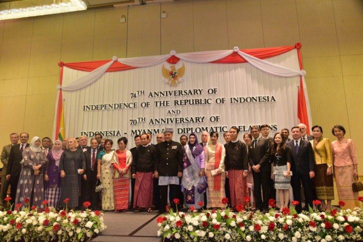 Indonesia, Myanmar celebrate 70 years of diplomatic ties