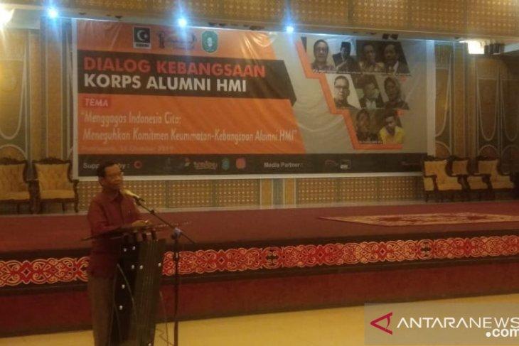 Menkopolhukam Mahfud minta HMI berkontribusi wujudkan Indonesia Emas