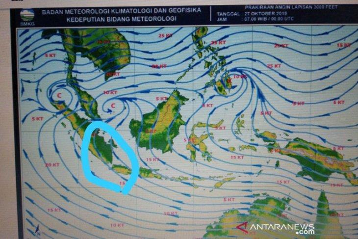 BMKG sebut cuaca di Bengkulu berangin hingga hujan intensitas sedang