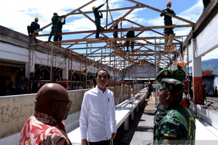 Jokowi instructs to expedite post-riot rehabilitation work in Wamena