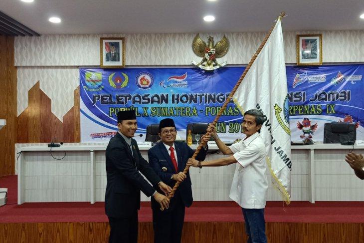 Kontingen Jambi dilepas menuju Porwil di Bengkulu