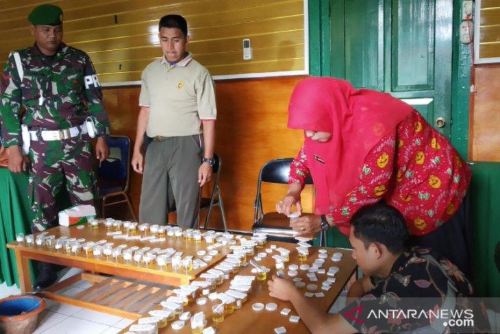Puluhan anggota Kodim 0409/Rejang Lebong jalani tes narkoba