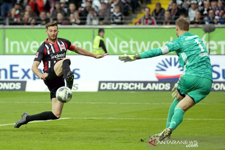Hasil Liga Jerman: Frankfurt hajar Bayern Munich 5-1