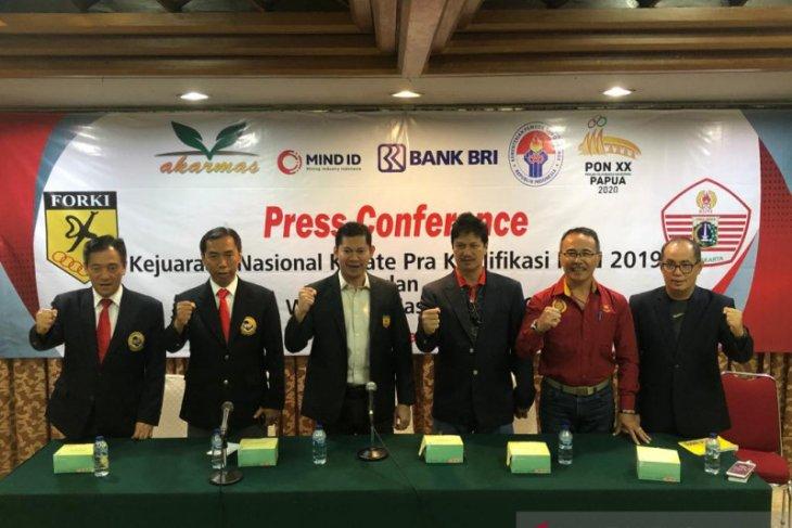 71 wasit karate terbaik diturunkan Kejurnas Pra-PON 2019