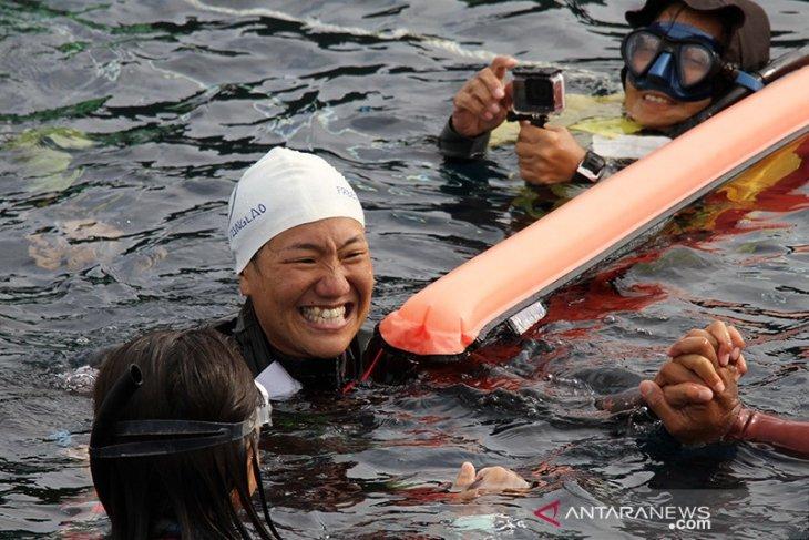 Pesrta freediving internasional kagum Teluk Balohan Sabang