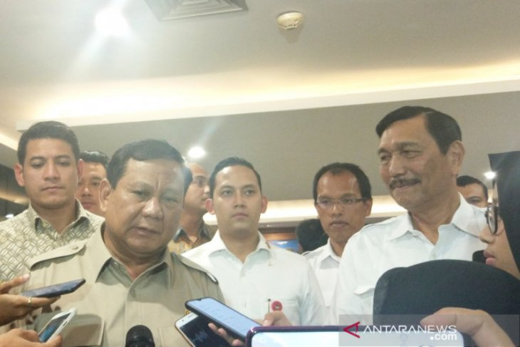 Subianto meets Luhut receives inputs on state defense