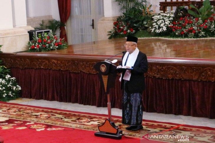 Ma'ruf Amin  ungkap pemerintah dorong penciptaan SDM berkualitas