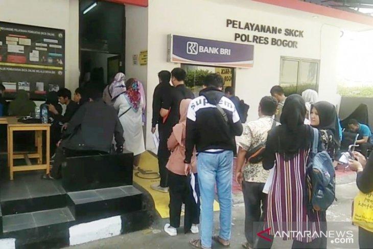 Seleksi CPNS membuat permohonan SKCK di Polres Bogor meningkat