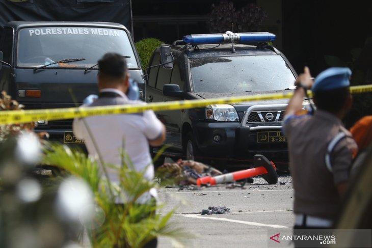 Ledakan bom bunuh diri lukai personel Kepolisian